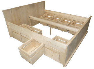 Geschaafd steigerhout bouwpakketten