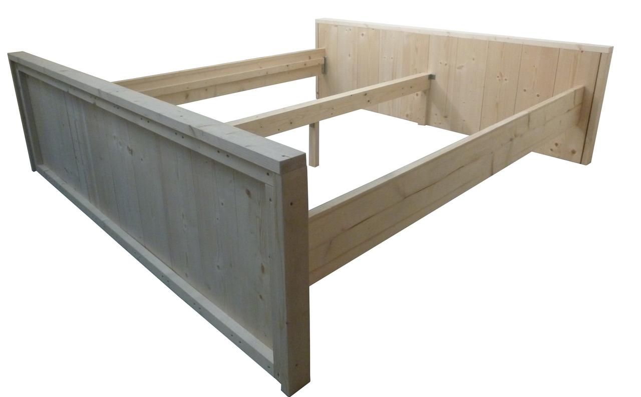 Wonderbaar Tweepersoons bed van steigerhout bouwpakket 180x200 - Woodkit ZN-01
