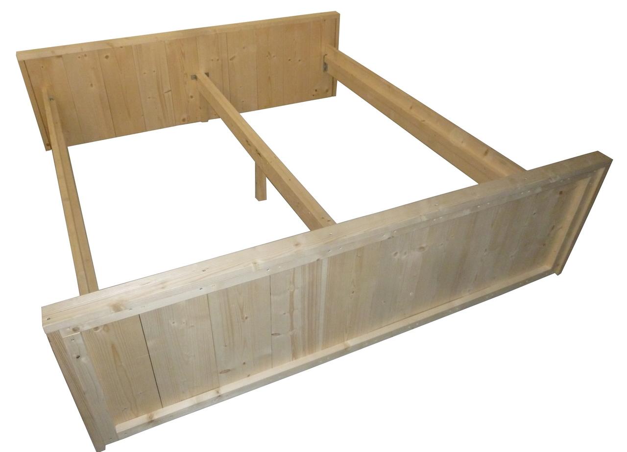Betere Tweepersoons bed van steigerhout bouwpakket 180x200 - Woodkit HV-95