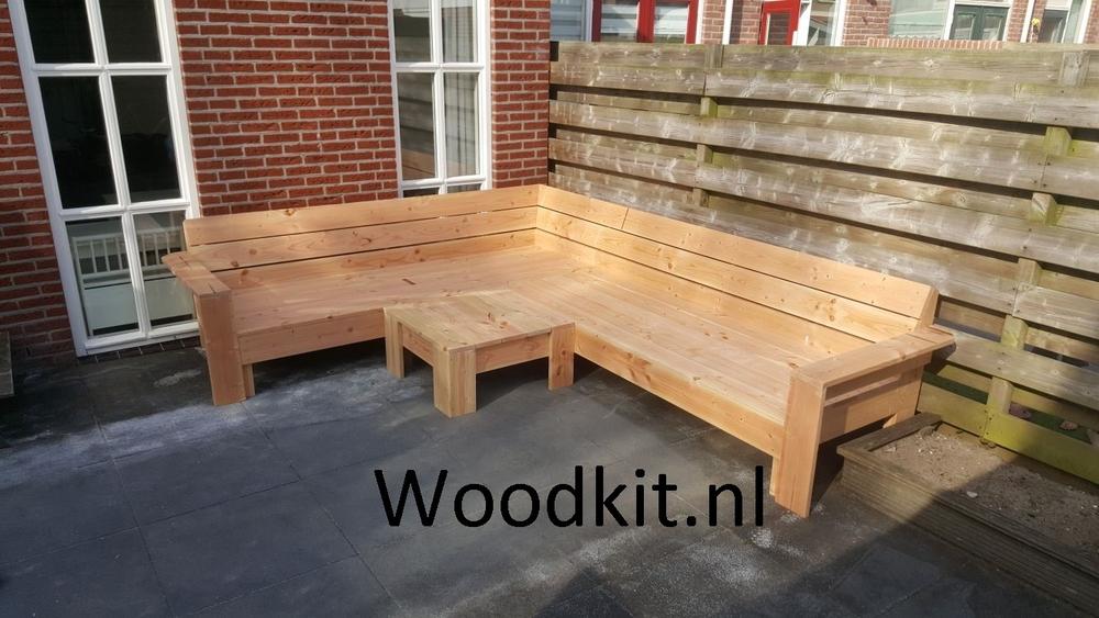 Houten hoekbank douglas hout