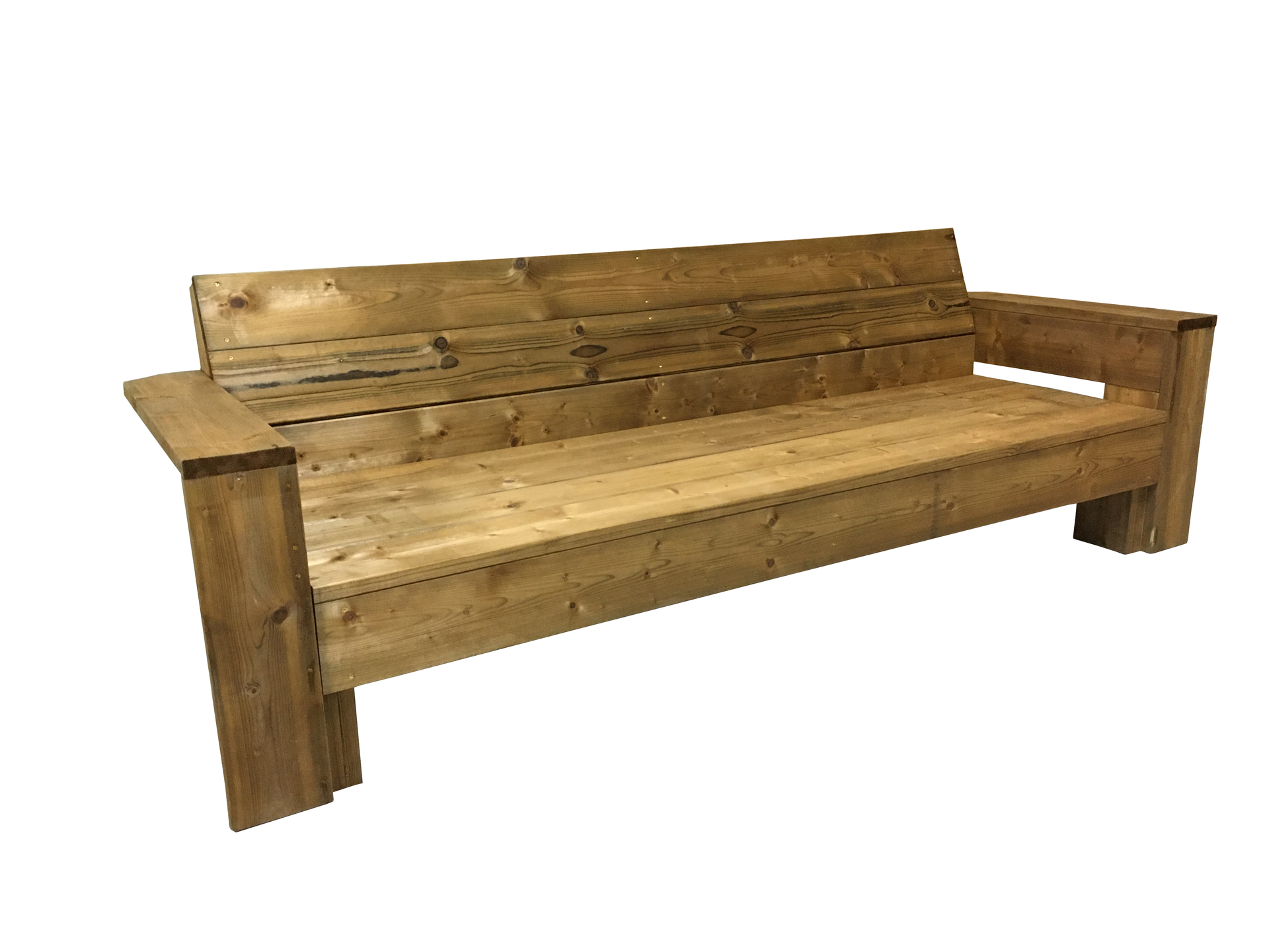 Loungebank van Geïmpregneerd bruin hout