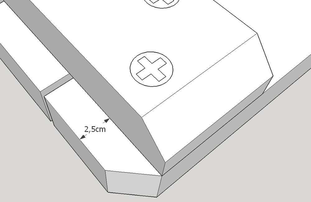 Picknicktafel bouwtekening montage tafelblad detail