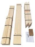 Bouwpakket steigerhout tafel met kruispoten