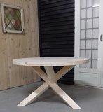 Ronde houten tafel steigerhout
