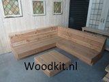 Hocker met hoekbank douglas hout