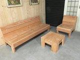 Loungeset douglas hout