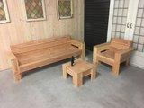 Loungeset douglas hout met armleuningen