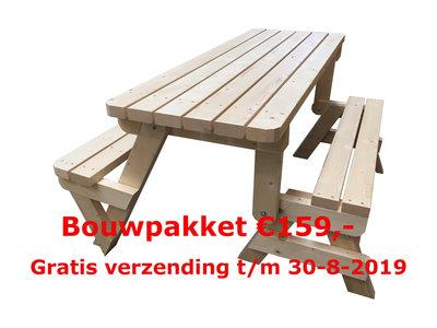 Inklapbare picknicktafel Zomer Actie! geen verzendkosten.