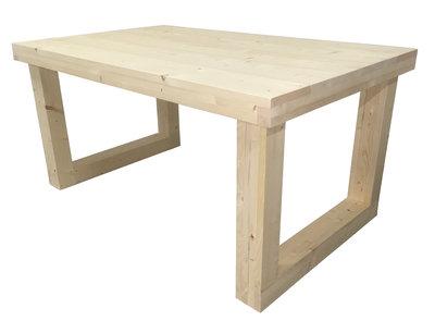 Steigerhout tafel met u onderstel bouwpakket