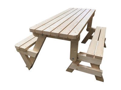 Opvouwbare picknicktafel Inklap / Uitklap Tuinbank bouwpakket