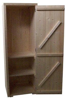 Kast steigerhout bouwpakket 1 deur