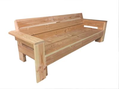 Loungebank met armleuningen douglas hout bouwpakket
