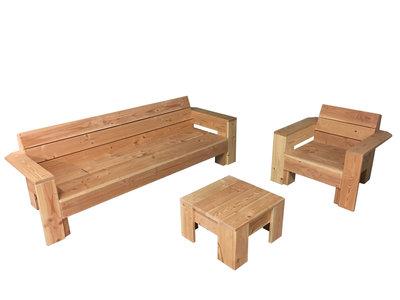 Loungeset douglas hout met armleuningen bouwpakket