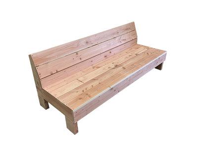 Loungebank douglas hout op maat bouwpakket