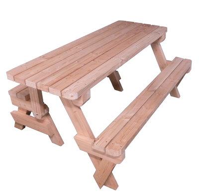Picknicktafel Inklapbaar 2 in 1 Douglas hout 180cm bouwpakket