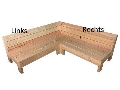 Hoekbank douglas hout bouwpakket op maat