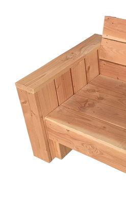 Armleuning kubus dicht douglas hout bouwpakket
