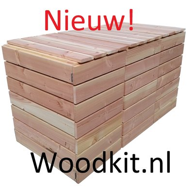 Kliko container ombouw douglas hout bouwpakket