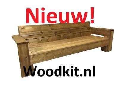 Loungebank bruin geïmpregneerd hout