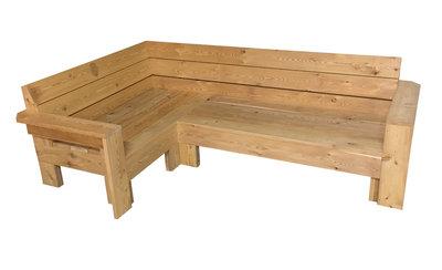 Hoekbank lariks hout