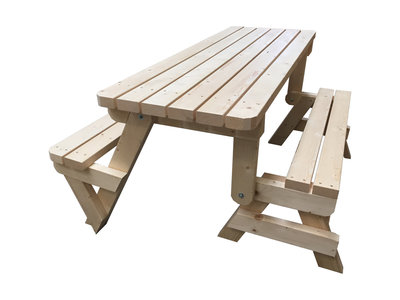 Opvouwbare inklapbare picknicktafel tuinbank woodkit for Tuintafel steigerhout bouwpakket