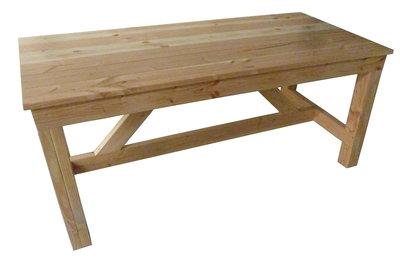 Tuintafel douglas hout bouwpakket woodkit for Zelf een tuintafel maken