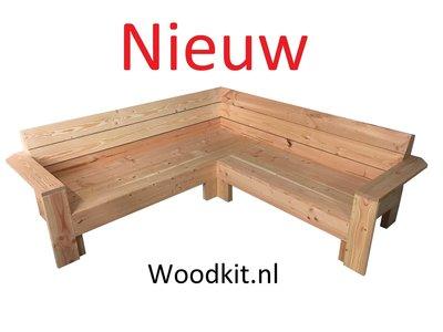 Nieuw hoekbank douglas hout