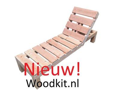 Nieuw houten ligbed bouwpakket douglas hout