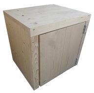 Steigerhout nachtkastje met deur